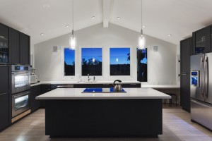 A modern kitchen in a luxury house